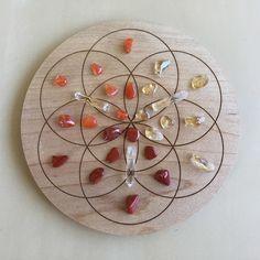 'Chakras - Lower Chakras' Crystal Grid