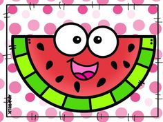 Watermelon Clipart, Watermelon Art, Cartoon Pics, Cartoon Drawings, Cute Cartoon, Doodle Books, Borders For Paper, Summer Activities For Kids, Kindergarten Activities