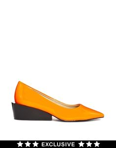 Cheap Monday Exclusive Orange Cat Kitten heel Shoes