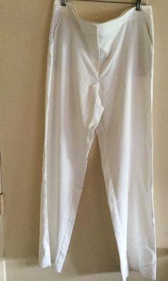St John Marie White Flat Front Pants Sz-14 NWT    eBay