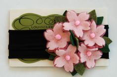 Cherry blossom girl felt headband by louandlee on Etsy