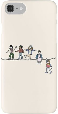 Stranger Things Phone Case • Also buy this artwork on phone cases, apparel, stickers, and more. #strangerthings #case #white #phone #merchandise [affiliate-link]