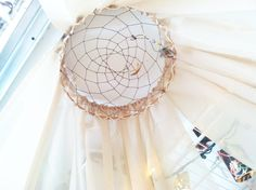 Hanging Dream Catcher Bed Canopy by DreamReel on Etsy, $35.00