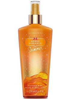 """64% Off was $18.00, now is $6.40! Victoria Secret Amber Romance Body Mist (Shimmer) 8.4 oz       """"Betsy says, it is a spicy-type perfume"""