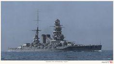 IJN Battleship Nagato, Sept 1931 大日本帝国海軍戦艦-長門