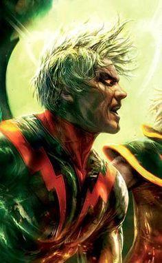 Adam Warlock-- AKA : HIM then changed to Adam-Magus---Teams :Guardians of the Galaxy, Infinity Watch----Powers: Superhuman strength; stamina; agility; endurance; flight; Energy manipulation