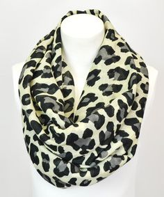 Look what I found on #zulily! White Leopard Infinity Scarf by Leto Collection #zulilyfinds