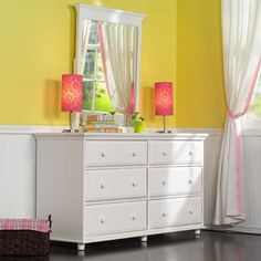Big 6 Drawer Dresser w/ Mirror by Maxtrix Kids (shown in white) Theme Beds, Kids Dressers, Dresser, Dresser With Mirror, 6 Drawer Dresser, Kid Dresser Girl, Built In Dresser, Cool Bunk Beds, Furniture