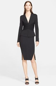 Donna Karan New York Cross Drape Jersey Jacket | Nordstrom