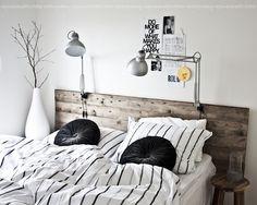 Nice headboard and lamps