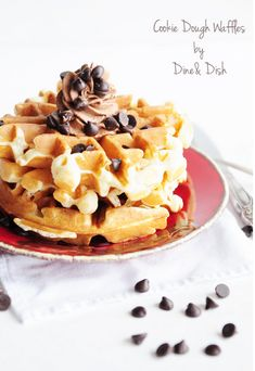 Cookie Dough Waffles | 23 Cookie Dough Desserts That Went Above And Beyond