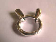 TSA181  Ringverschluss mit Endkappen 6mm Band von MahAlo - Design auf DaWanda.com