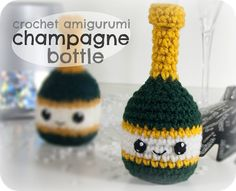 Crafty Alien Blog - Make it out of the world: Crochet Amigurumi Champagne Bottle