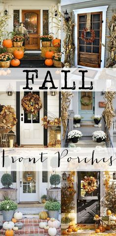 Get inspired with all these stunning Fall porches. Loaded with ideas! #fall #porches #fallporches