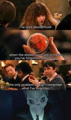 Quand l'alien qui efface la mémoire est présent dans Harry Potter