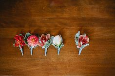 Red Wedding Inspiration | Boutonnieres