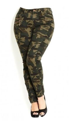 Plus Size Camo - City Chic