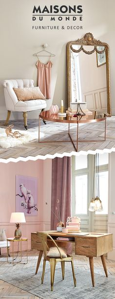 Blush pink and gold: a match made in heaven! Add effortless elegance to your interior with blush pink shades and glimmers of gold. Oozing modern charm, our Chic Comfort Range is bursting with exclusive designs you won't see anywhere else. Discover the Look | Maisons du Monde