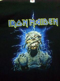 Iron Maiden Powerslave official 2013 T-Shirt rare vintage men's 2XLarge heavy metal Judas Priest Saxon Metallica Guns N Roses by shirtsforeveryone17 on Etsy