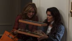 """This is in the first episode of Season 1 and Maura gives Jane a baby tortoise! Maura has a pet tortoise named Bass and Jane thinks it's the weirdest thing ever. But Maura is so sweet when she gives this to Jane! Jane always calls Bass a turtle and Maura says """"Tortoise!"""" in a hurt voice. Jane always replies with a """"Whatever!"""" (:"""