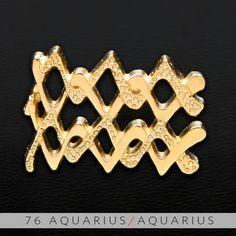 76 Aquarius and Aquarius Gold Unity Pendant. $69.99, via Etsy.