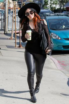 Kat Von D Grabs a Quick Coffee at Urth Cafe on February 25, 2014