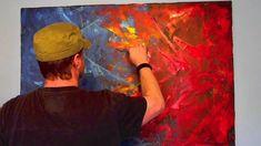 Acrylmalerei Spachteltechnik abstrakt (+playlist)