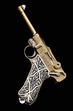 and Beautiful Guns Pistol HandgunPistol Handgun Weapons Guns, Guns And Ammo, Luger Pistol, Revolvers, Gun Art, Custom Guns, Cool Guns, Shotgun, Firearms