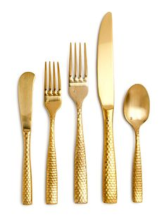 EventHaus: Lucca Gold Hammered Flatware