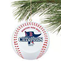 Boston Red Sox 2013 MLB World Series Champions Mini Baseball Ornament