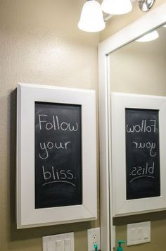 diy turn your old medicine cabinet into a chalkboard
