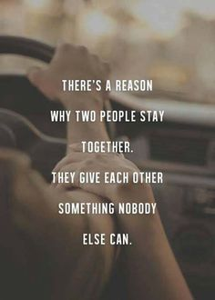 Two people stay togather