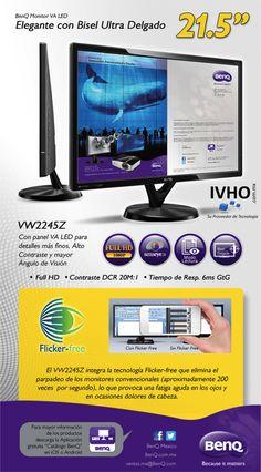 Llévate este excelente monitor BenQ de 21.5 pulgadas súper delgado, Full HD LED !por solo $1,850.00 iva incluido y por supuesto el envío es GRATIS!   Para mas información contacta a Gerardo Ramirez en su número directo 84214028 en el DF y Área Metropolitana.