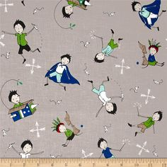 Riley Blake Greatest Adventure Main Gray from @fabricdotcom  Go on an adventure with Riley Blake! Designed by Cinderberry Stitches and Natalie Lymer for Riley Blake, this cotton print is perfect for quilting, apparel and home decor accents. Colors include charcoal, blue, red, green, grey, beige, aqua, black and white.