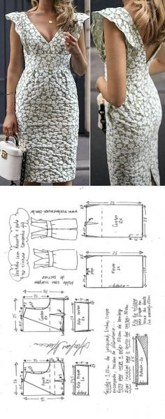 Sewing dress diy costura 48 ideas for 2019 Sewing Dress, Dress Sewing Patterns, Diy Dress, Sewing Patterns Free, Sewing Clothes, Clothing Patterns, Diy Clothes, Pattern Dress, Fashion Sewing