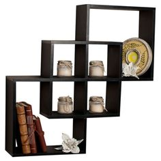 Modern-Intersecting-Cubes-Floating-Curio-Display-Accent-Wall-Shelf-Black-White