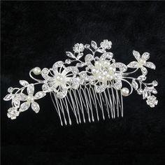 2014 Sale Wedding Tiara Austrian Rhinestone Hair Accessories Comb Bridal Party Gift Flower Bouquet Wedding Rhinestones Luxury -in Hair Jewelry from Jewelry on Aliexpress.com 7.75$