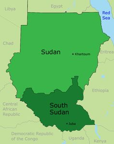 South Sudan has split off from North Sudan because of civil wars This caused many people to move south..