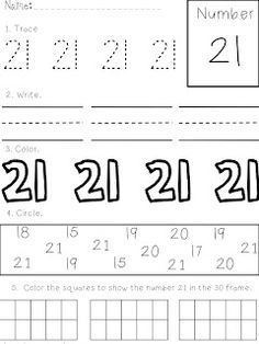 7 Best 21-25 numbers images | Fun learning, Learning numbers ...