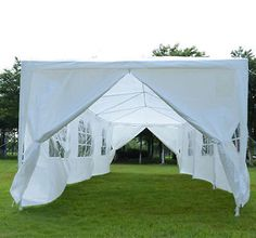 Wedding-Tent-Gazebo-10x30-Outsunny-Outdoor-Party-Canopy-with-Side-Walls
