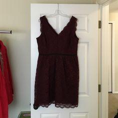 Ann Taylor Loft lace dress Burgundy Ann Taylor Loft lace dress Ann Taylor Loft Dresses