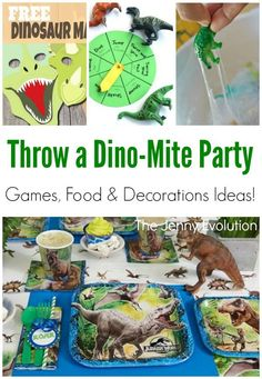25 roaring jurassic crafts kids can do jurassic world for Amusement park decoration games