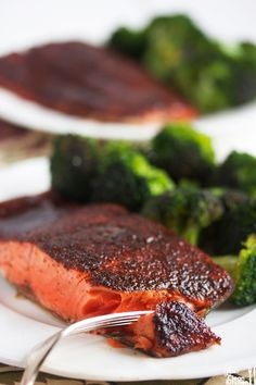 Maple Glazed Salmon - This salmon recipe is easy to make and is sure to be a crowd-pleaser. And Braces Friendly!