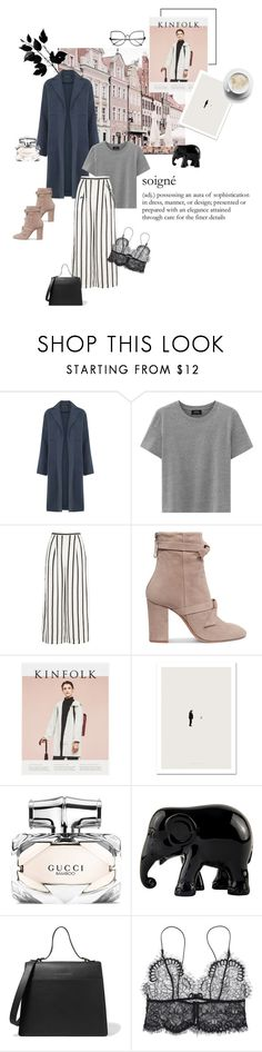 """""""Sa grâce"""" by ellasophialove ❤ liked on Polyvore featuring Warehouse, Finders Keepers, Alexandre Birman, The Elephant Family and Victoria Beckham"""