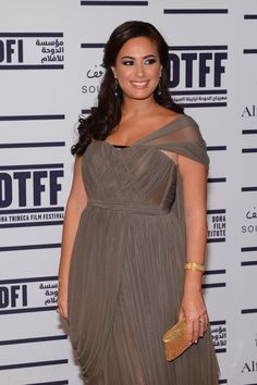Gorgeous Hend Sabry from the movie Asmaa attending DTFF opening Tunisian People, Arab Celebrities, Tribeca Film Festival, Films, Cinema, Contemporary, Stars, Formal Dresses, Egypt
