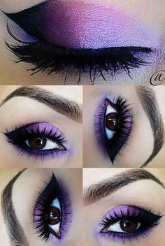 So Pretty Purple Eye Makeup for Prom