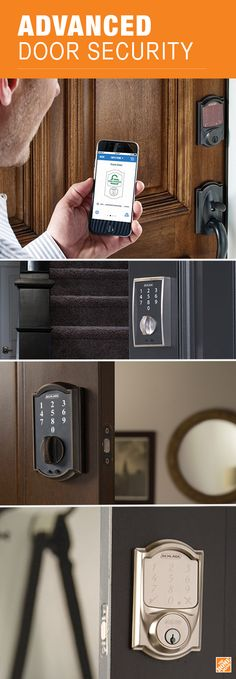 Technology is making security more convenient. Take a look at Schlage's innovative electronic door locks available in the latest styles and finishes at The Home Depot.