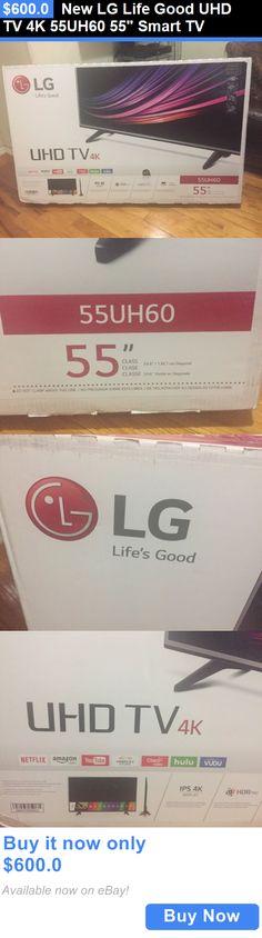 Smart TV: New Lg Life Good Uhd Tv 4K 55Uh60 55 Smart Tv BUY IT NOW ONLY: $600.0 Lg Tvs, Smart Tv, Netflix, News, Life, Ebay