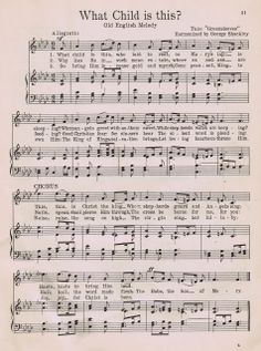 Printable Antique Hymn Page: What Child is This?