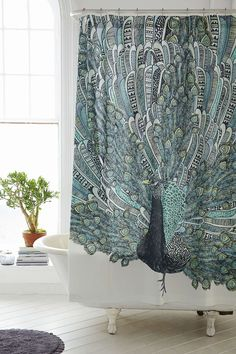 Magical Thinking Pavo Peacock Shower Curtain - Urban Outfitters